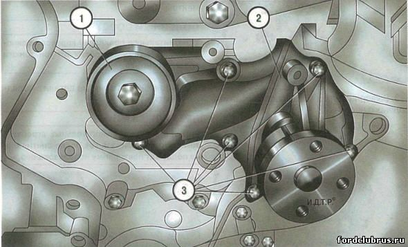 Водяной насос двигателя 1,6 л Duratec