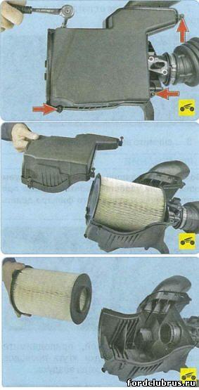 Замена воздушного фильтра форд фокус 3