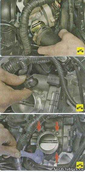 Снятие дроссельного узла Форд Фокус 3
