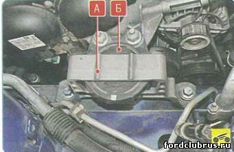 Замена правой подушки двигателя