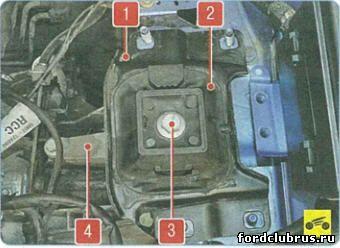 Замена левой подушки двигателя Форд Фокус 3