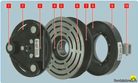 Электромагнитная муфта привода компрессора форд мондео