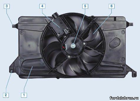 Вентилятор системы охлаждения Фокус 2