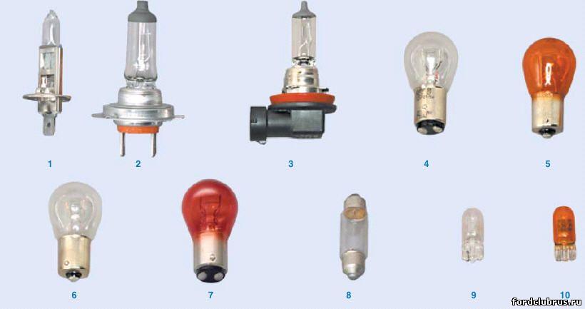 Лампочки в Форд Фокус 2