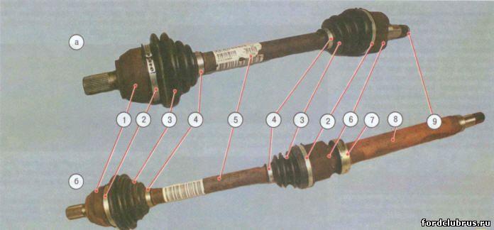 Приводы передних колес ФФ2