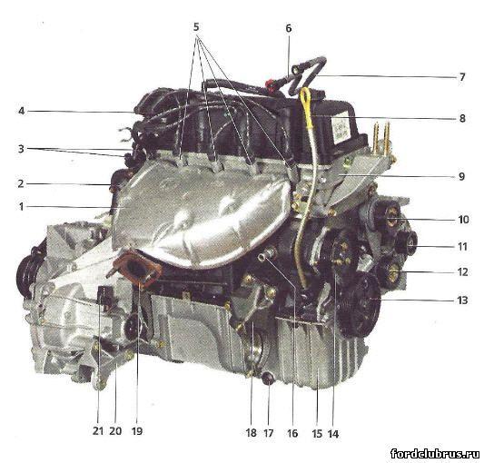 Двигатель Duratec 1,6i Форд Фокус 1