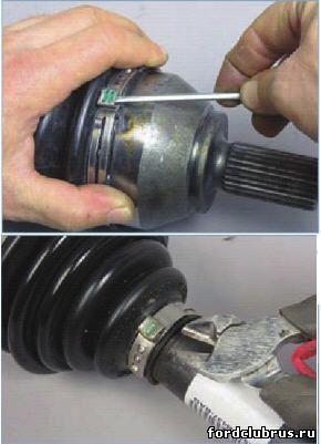 Замена пыльника внешнего шруса форд фокус 2 своими руками 6