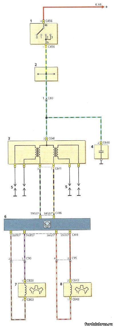 Схема системы зажигания Форд Фокус 1