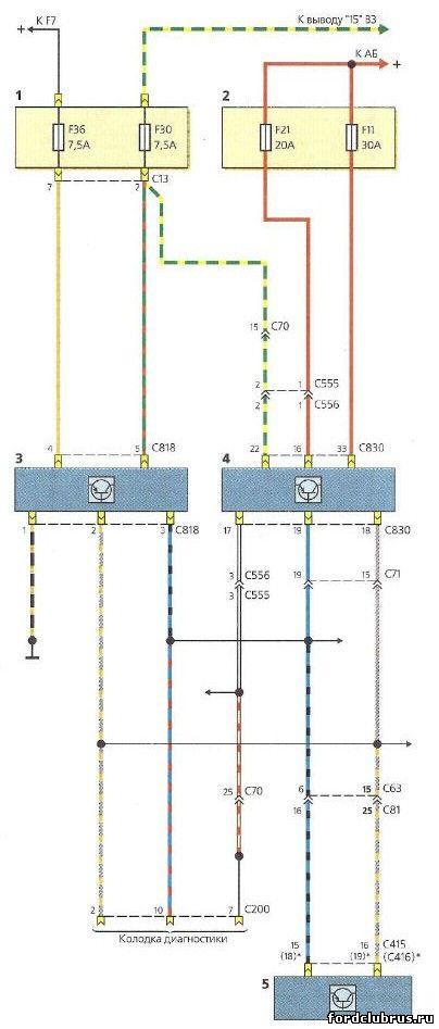 Схема abs форд фокус 2