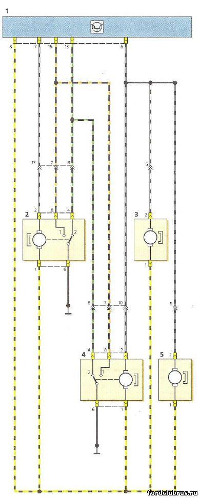 Схема включения центрального замка Фокус 1