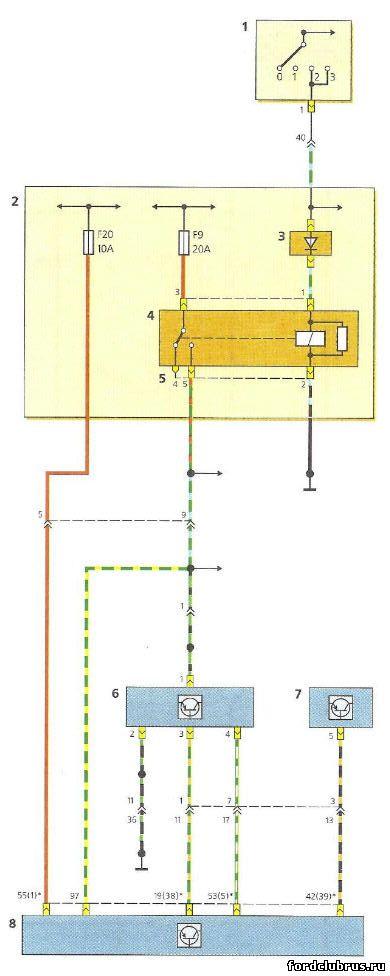 Схема включения датчика иммобилайзера Форд Фокус 1