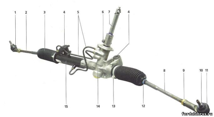Рулевой механизм Фокус 1