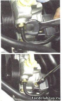 Снимаем насос гидроусилителя Форд фокус 1