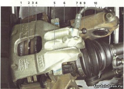 Передний тормозной механизм Фокус 1