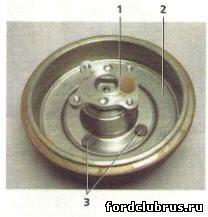 Задний барабанный тормозной механизм Фокус 1