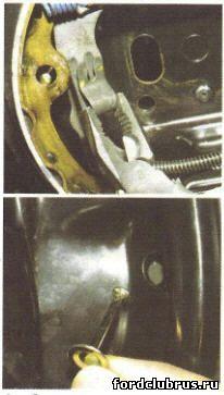 Замена задних тормозных колодок Форд Фокус 1