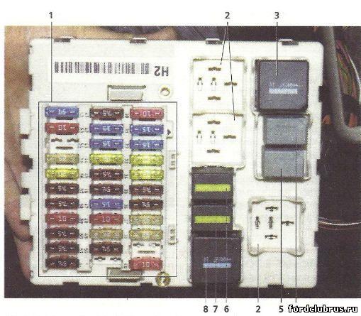 Основной монтажный блок, расположенный в салоне Фокус1